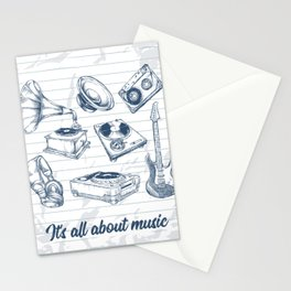 It's all about music Stationery Cards