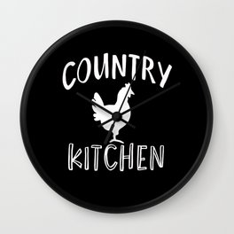 Kitchen Country Chef Baker Cook Chicken Roaster Wall Clock