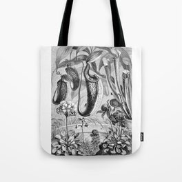 Carnivorous Plants Vintage Illustration Tote Bag