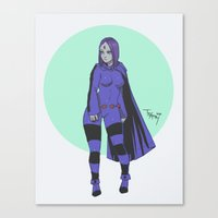 teen titans Canvas Prints featuring Raven Teen Titans Redesign by Taylor-Payton