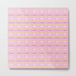 Pink and Yellow Geometric Design Metal Print