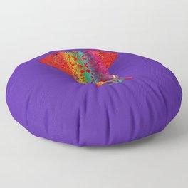 Rainbow Ganesha (Purple Background) Floor Pillow