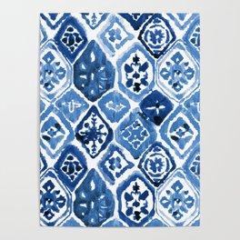 Arabesque tile art Poster