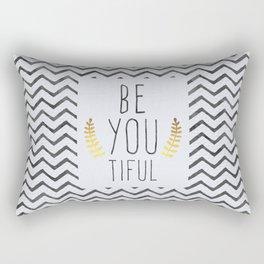Be You Tiful Quote Rectangular Pillow