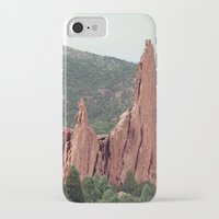 spires iPhone & iPod Cases featuring Spires - Garden of the Gods by Katie Kirkland Photography