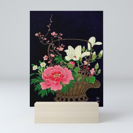 Ohara Koson Flower Basket Mini Art Print