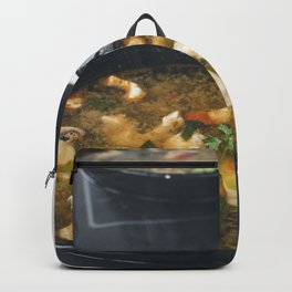 Seafood Tom Yum or Thai style spicy soup Backpack