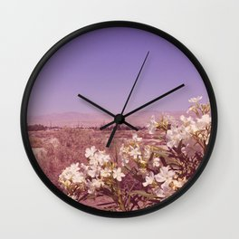 desert flowers Wall Clock