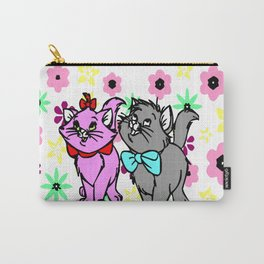 The happy cute couple cats Carry-All Pouch