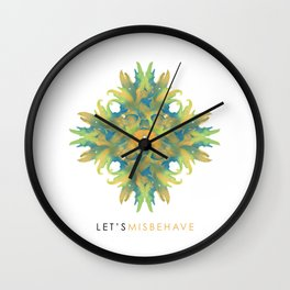 Let's Misbehave Wall Clock