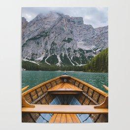 paddling through Lago di Braies Poster