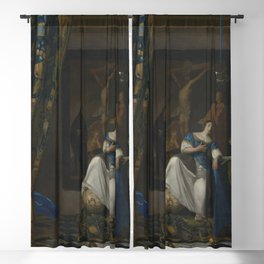 "Johannes Vermeer ""The Allegory of the Faith"" Blackout Curtain"