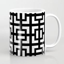Modern geometric background black and white #society6 #decor #buyart #artprint Coffee Mug