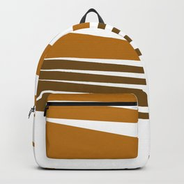 Zigzag ethno Lines -- chocos Backpack