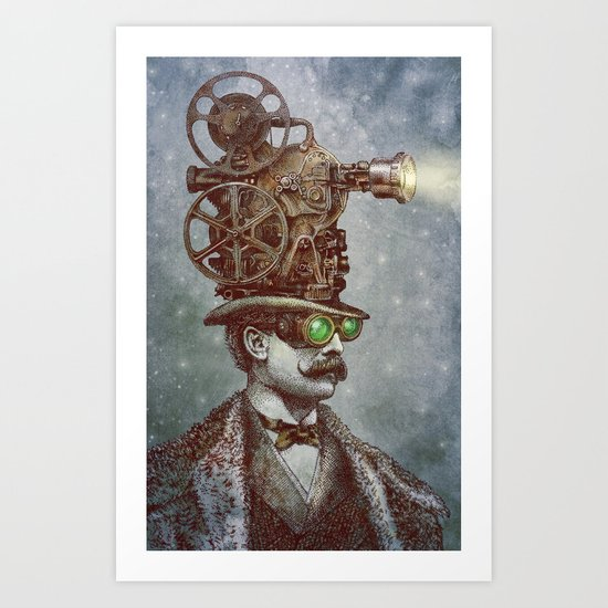 The Projectionist (colour option) Art Print