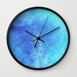 Turquoise Seas Abstract Watercolor Wall Clock