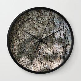 Sycamore Tree Bark Wall Clock