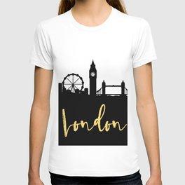 LONDON ENGLAND DESIGNER SILHOUETTE SKYLINE ART T-shirt