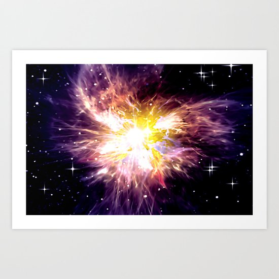 SHINING STAR. Art Print