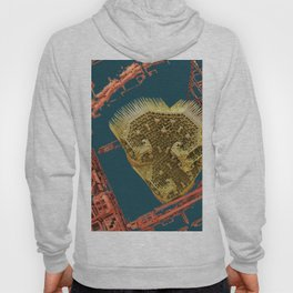 heart in a cage fractal Hoody
