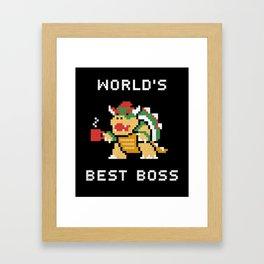 WORLD BEST BOSS Framed Art Print