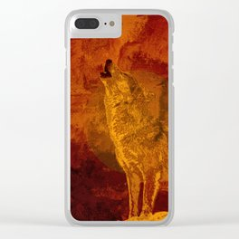 Wolf Spirit Guide Clear iPhone Case