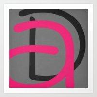 daria Art Prints featuring Daria by Jensen Merrell Designs