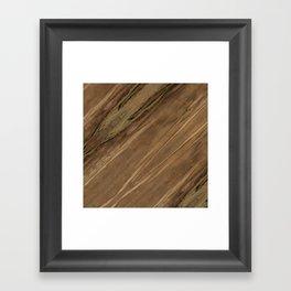 Etimoe Crema Wood Framed Art Print