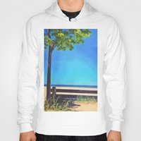 michigan Hoodies featuring Lake Michigan by Litew8