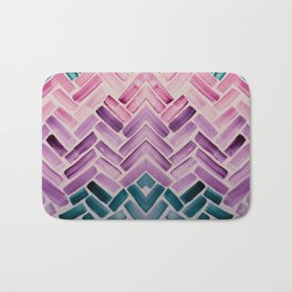 Decor Colorful Watercolor Abstract Pattern Bath Mat