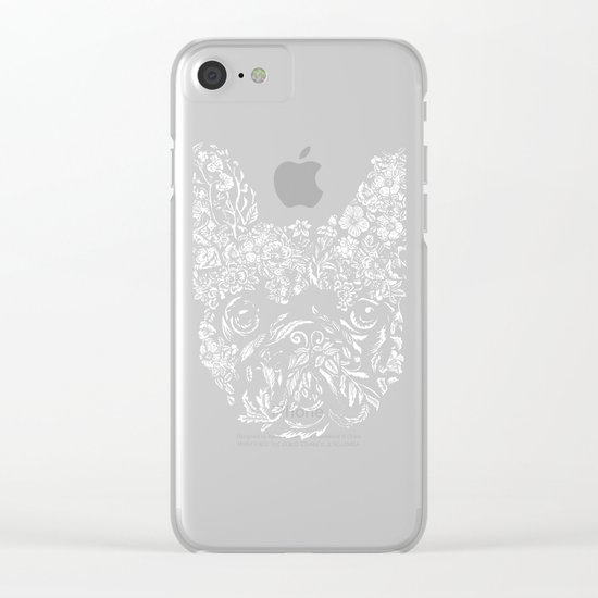 Botanical frenchie Clear iPhone Case