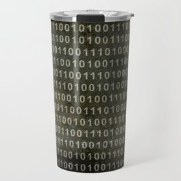 The Binary Code - Dark Grunge version Travel Mug