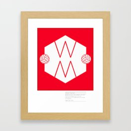 Herbert Chapman - Inventor of the WM Formation & legendary Manager of Arsenal FC Framed Art Print
