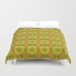 Sun Flower, Sunflower, Bohemian Floral Mandala Pattern Duvet Cover