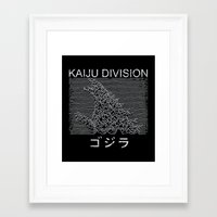 kaiju Framed Art Prints featuring Kaiju Division by Pigboom Art