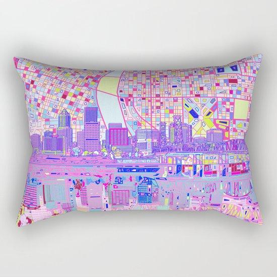 portland city skyline Rectangular Pillow