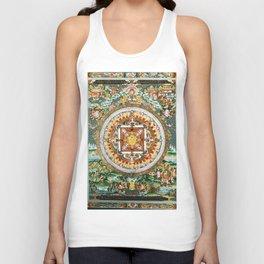 Buddhist Mandala 48 White Tara Unisex Tank Top