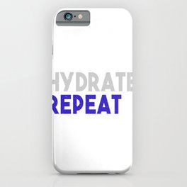 Exert Hydrate Repeat Fitness Gym Workout iPhone Case