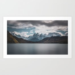 Somewhere over the mountain range Art Print