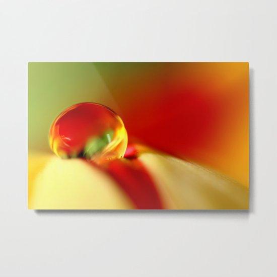 Tulip Droplet Metal Print