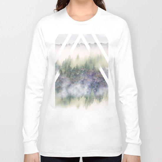 Foggy Mountains Long Sleeve T-shirt