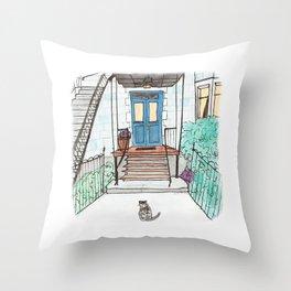 A Montreal Cat Throw Pillow