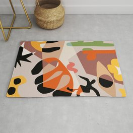 Cut out organic shapes abstract Rug