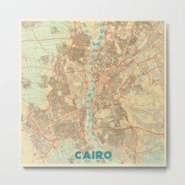 Cairo Map Retro Metal Print
