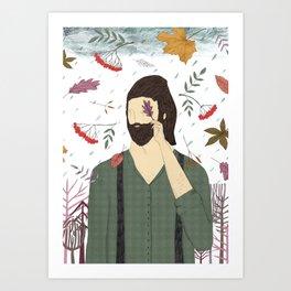 A forester. Art Print