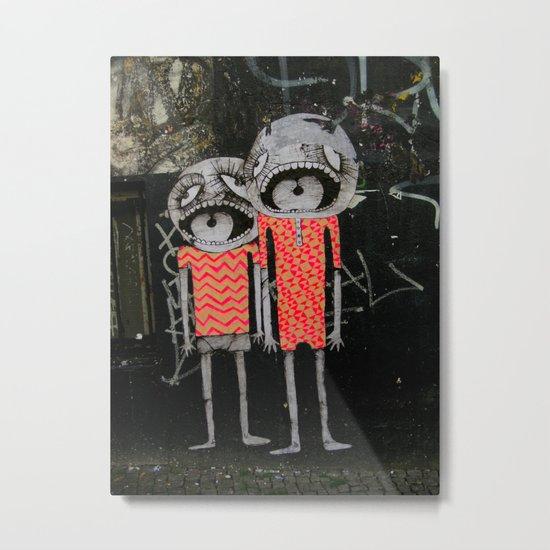 street art couple Metal Print