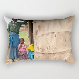 Village Life Rectangular Pillow