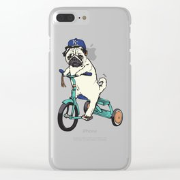 Royals Pug Clear iPhone Case