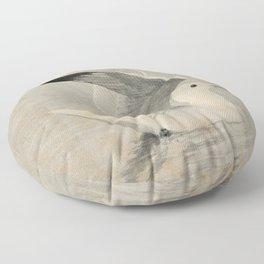 Vintage Illustration of a Seagull (1902) Floor Pillow