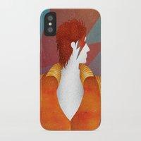 david bowie iPhone & iPod Cases featuring Bowie by David van der Veen